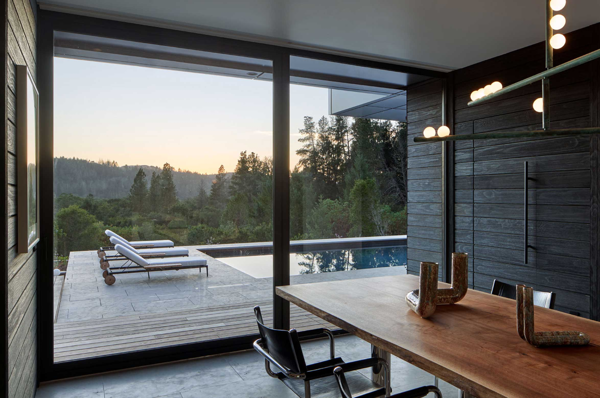 Elevated Mood - dining room with pool view