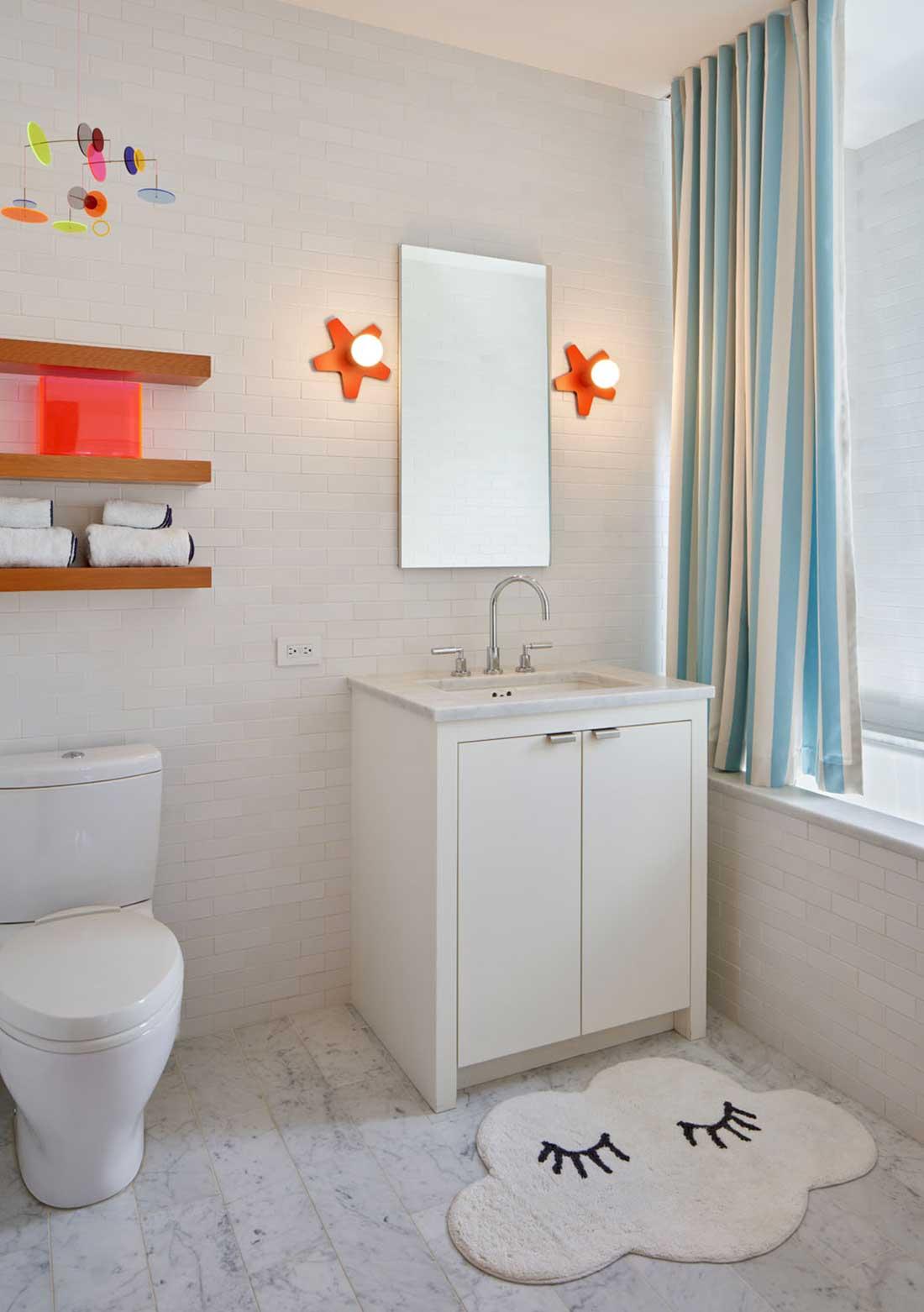 No Ordinary Blue - Kids bathroom