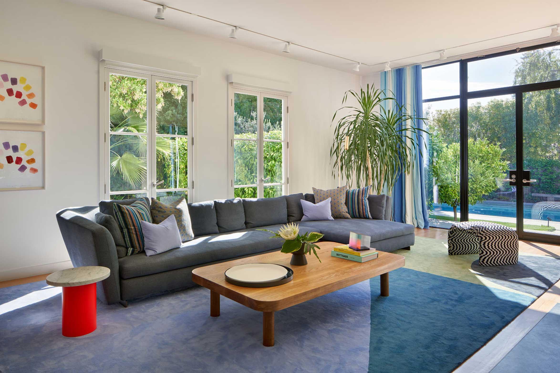 No Ordinary Blue - living room with big windows