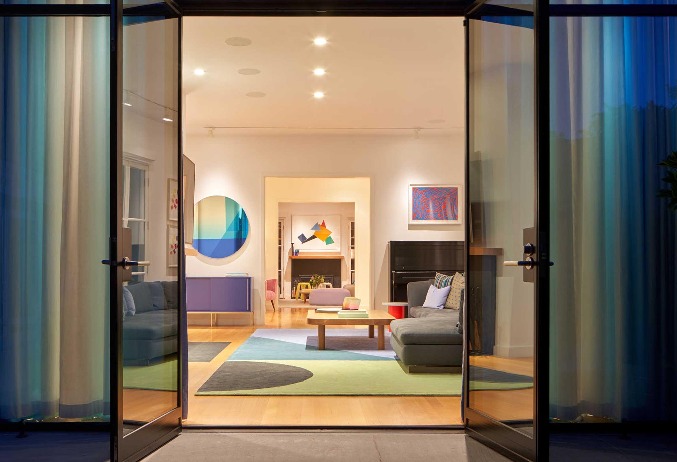 No Ordinary Blue - back door entry way view